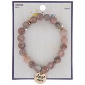Choose Happy Dyed Howlite Bracelet