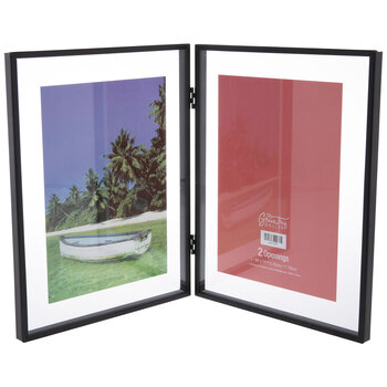 """Hinged Metal Double Float Frame - 5"""" x 7"""""""