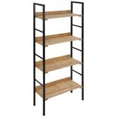 Bamboo Metal Shelf