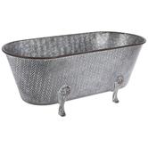 Herringbone Tub Galvanized Metal Planter
