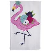 Floral Flamingo Kitchen Towel