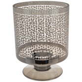 Spotted Hurricane Glass Candle Holder