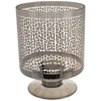 Spotted Hurricane Glass Candle Holder - Small