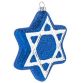 Star Of David Glitter Ornament