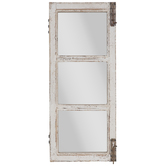 Distressed Door Wood Wall Mirror