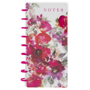 Floral Happy Planner Half Sheet Notebook