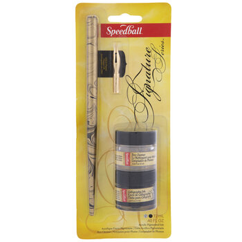 Speedball Signature Pen & Ink With Cleaner