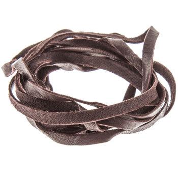 """Chocolate Brown Deerskin Lace - 3/16"""""""