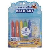 Baby Shark Bath Art Crayons & Stickers