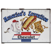 America's Favorites Chevrolet Metal Sign