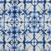 Blue Shibori Fleece Fabric