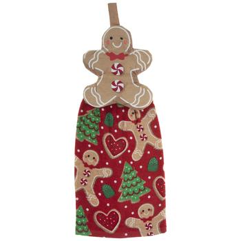 Gingerbread Cookie Hanging Towel
