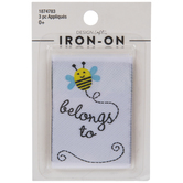 Bee Belongs To Iron-On Applique