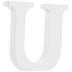 White Wood Letter U - 3