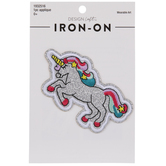 Glitter Unicorn Iron-On Applique