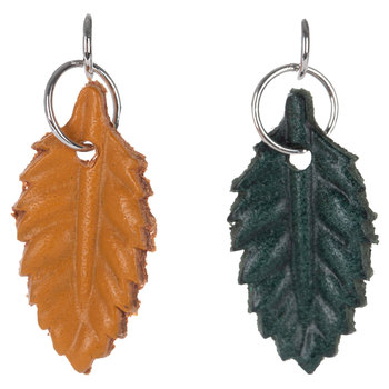 Leather Leaf Charms