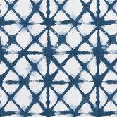White & Navy Shibori Net Fabric