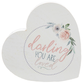 Darling You Are Loved Heart Wood Decor