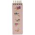 Pink Thin Floral Spiral Notebook