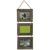 Barnwood Rope Collage Wall Frame