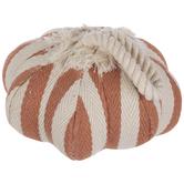 Striped Pumpkin Ornament