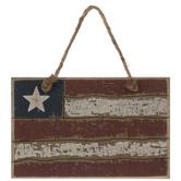 Rustic Flag Ornament