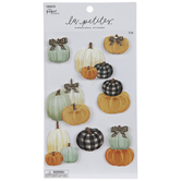 Plaid Pumpkins 3D Stickers