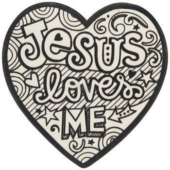 Jesus Loves Me Wood Hearts