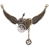 Steampunk Winged Gear Pendant
