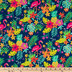 Tropical Leaf Flamingo Apparel Fabric