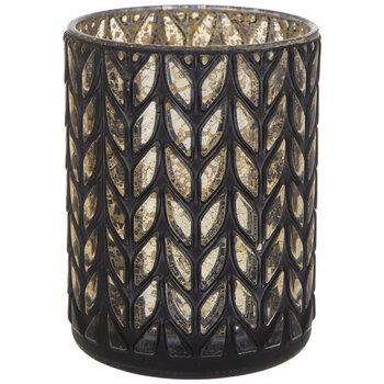 Black & Gold Braided Glass Vase