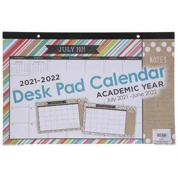 2021 - 2022 Too Cute Desk Pad Calendar - 12 Months