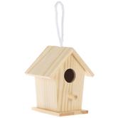 Slant Roof Mini Wood Birdhouse