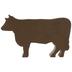 Home Sweet Home Metal Cow
