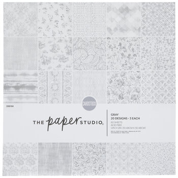 """Gray & White Cardstock Paper Pack - 12"""" x 12"""""""