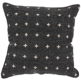 Black & White Crosses Pillow Cover