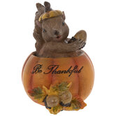 Be Thankful Squirrel & Pumpkin