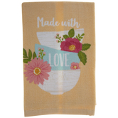 Made With Love Bowl Stack Kitchen Towel