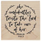 Psalm 112:7 Rubber Stamp
