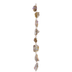 Gold Splattered Shell Bead Strand
