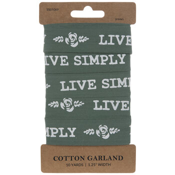 Live Simply Tape Garland