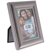 """Pewter Convex Beaded Frame - 2"""" x 3"""""""