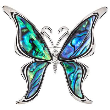 Shell Butterfly Brooch