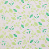 Pink & Green Leaf Cotton Fabric