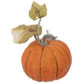Orange Pumpkin With Leaves