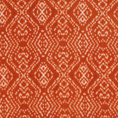 Orange & White Diamond Dots Plush Fleece Fabric
