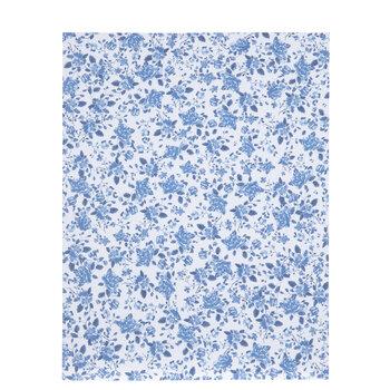 "Navy & White Floral Scrapbook Paper - 8 1/2"" x 11"""