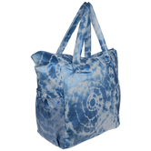 Blue Tie-Dye Puffer Tote Bag
