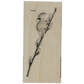 House Mouse Willow Climb Rubber Stamp