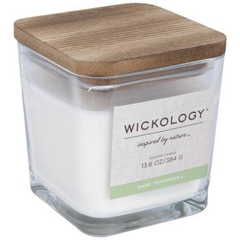 Sage Teakwood Wood Wick Jar Candle